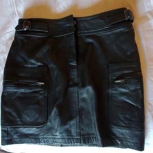INC leather mini
